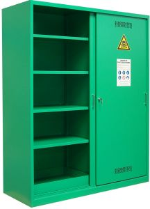 Armoire phytosanitaire, 1950x1600x600mm, vert RAL 6032