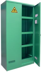 Armoire phytosanitaire, 1950x950x500mm, vert RAL 6032